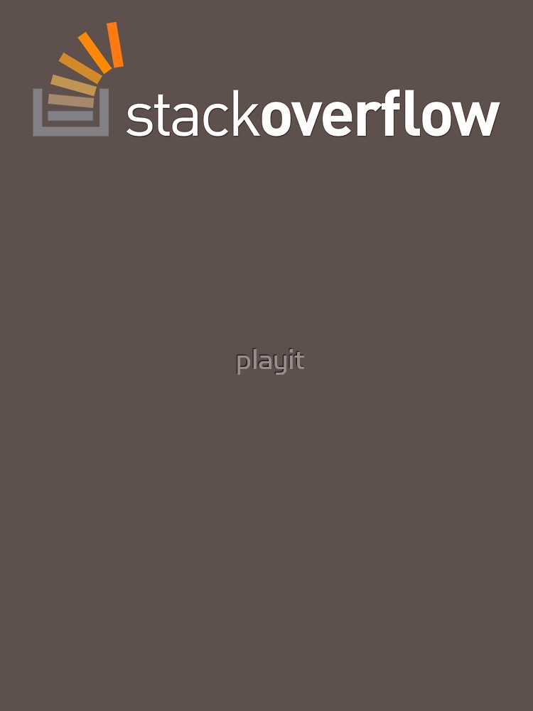 TShirtGifter presents: Stack Overflow | Unisex T-Shirt