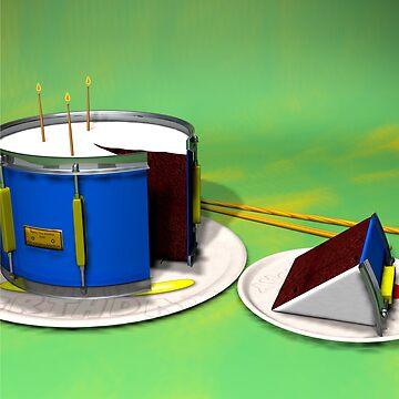 Geburtstags-Trommel-Kuchen von TheFlying6