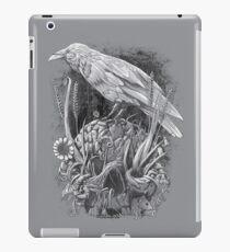 Vinilo o funda para iPad Cuervo blanco
