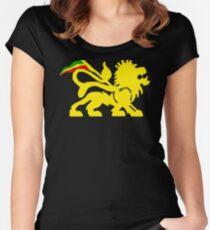 Lion Rasta Man Women's Fitted Scoop T-Shirt