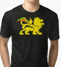 Lion Rasta Man Tri-blend T-Shirt