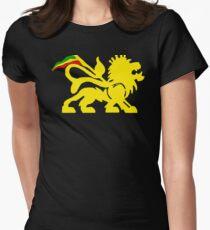 Lion Rasta Man Womens Fitted T-Shirt