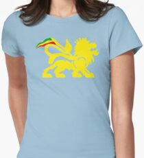 Lion Rasta Man Womens Fitted T-Shirt