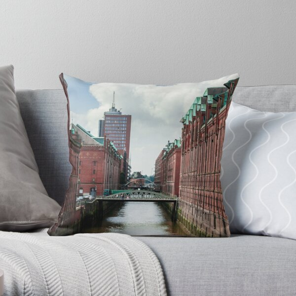 hamburg hafencity 01 Throw Pillow