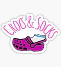 Crocs & Socks Sticker