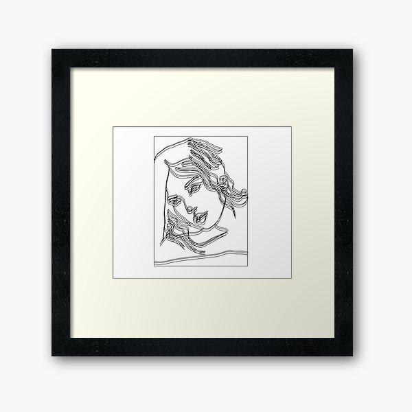 Portrait Line Art Framed Art Print