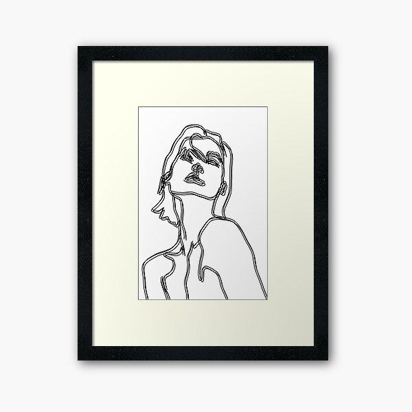 Woman Line Art Framed Art Print