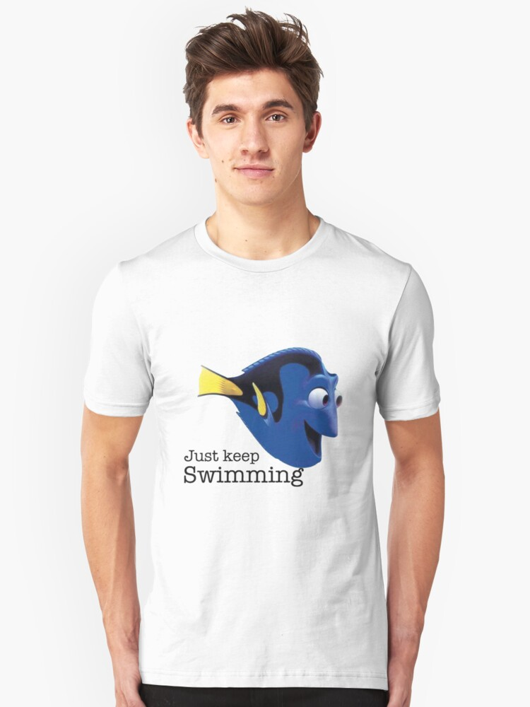 just keep swimming- Nemo Unisex T-Shirt Front