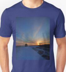 Cold winter morning in the Bakken oil fields, North Dakota Unisex T-Shirt