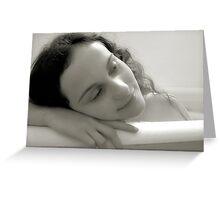 Bathtub Dreams Greeting Card