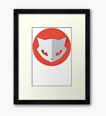 Cat Space Funny Framed Print