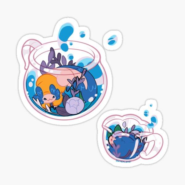 Blauer Tee - Ghostbur and Friend Sticker
