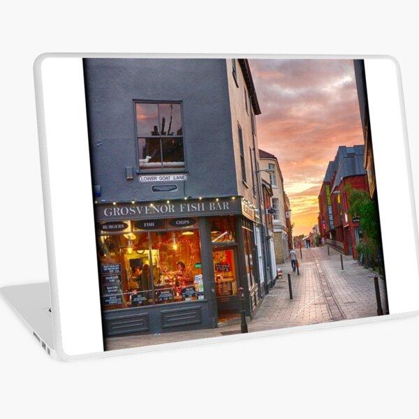 Summertime Sunset on Pottergate Laptop Skin