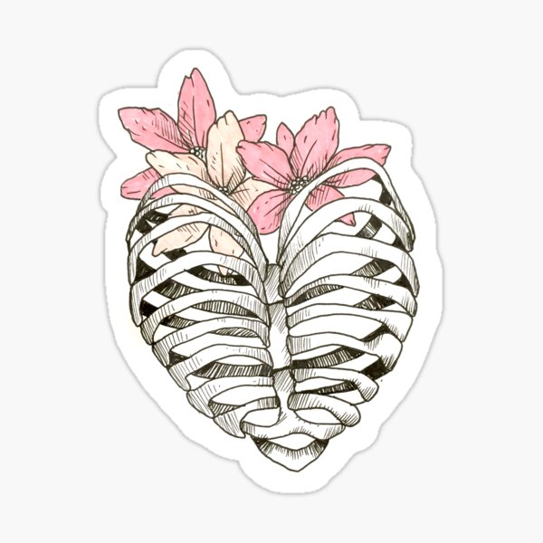 Ribcage Heart  Sticker
