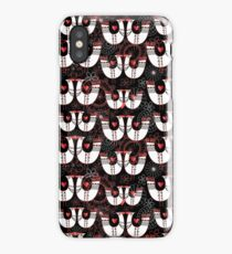Seamless pattern with birds in love hearts iPhone Case/Skin