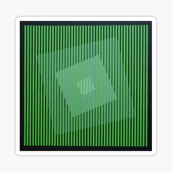 Black Rainbow - Green Sticker