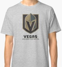 A Golden Vegas Sports Shirt Knight Emblem Distressed Look Tshirt Classic T-Shirt