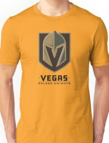 A Golden Vegas Sports Shirt Knight Emblem Distressed Look Tshirt Unisex T-Shirt