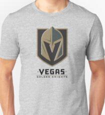 A Golden Vegas Sports Shirt Knight Emblem Distressed Look Tshirt Unisex T-Shirt