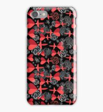 pattern in love birds with hearts iPhone Case/Skin