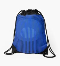 Black Rainbow - Blue Drawstring Bag
