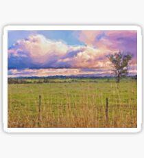 Rural Landscape (Redesdale, Victoria) Sticker