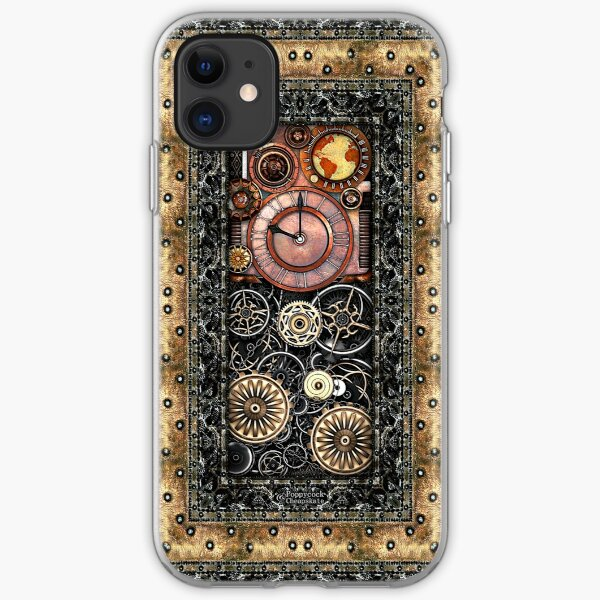 Infernal Steampunk Timepiece #2B Vintage Steampunk phone cases iPhone Soft Case