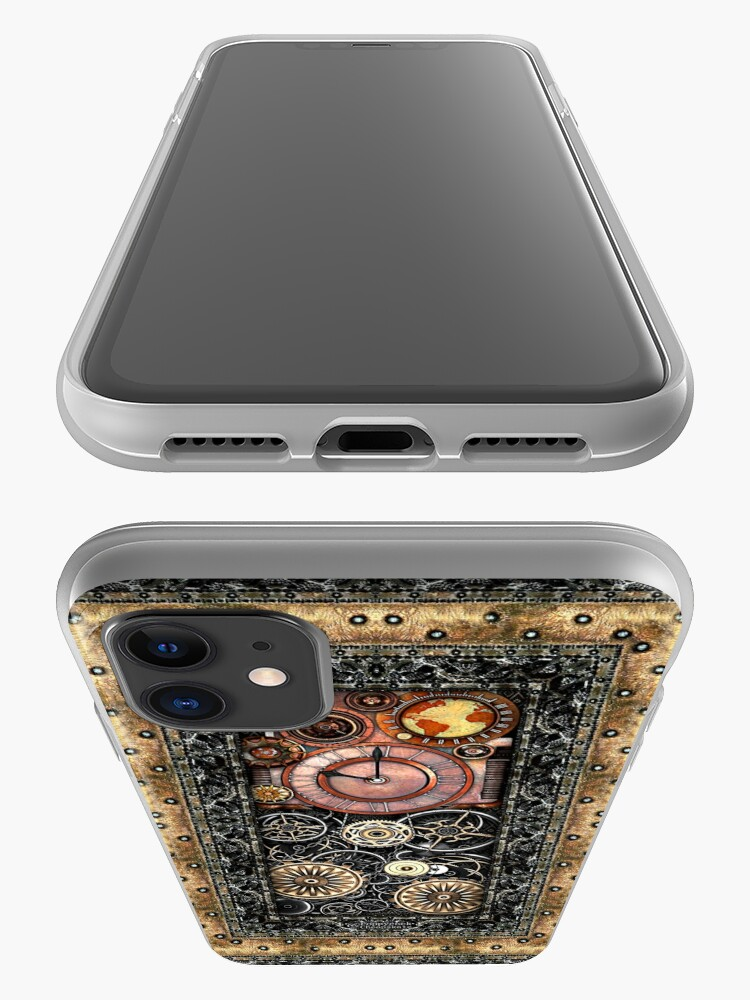 Alternate view of Infernal Steampunk Timepiece #2B Vintage Steampunk phone cases iPhone Case & Cover