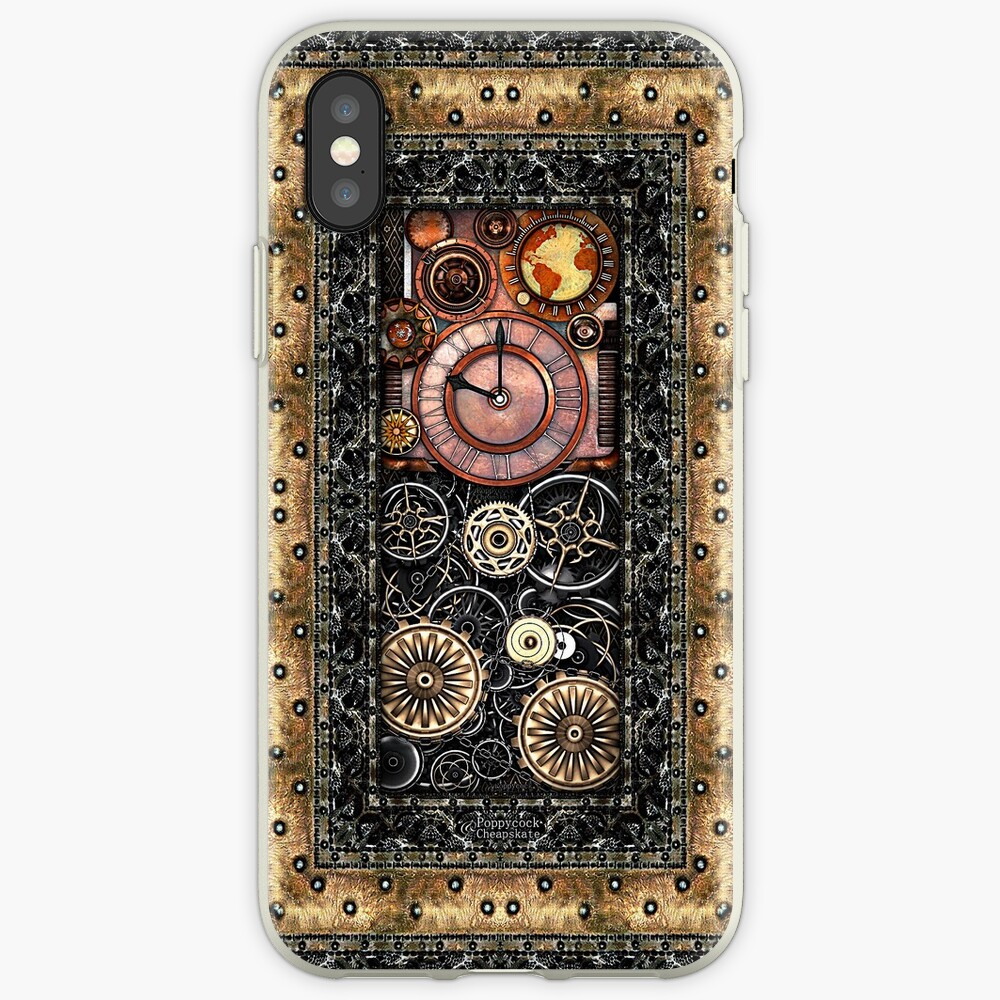 Infernal Steampunk Timepiece #2B Vintage Steampunk phone cases iPhone Case & Cover