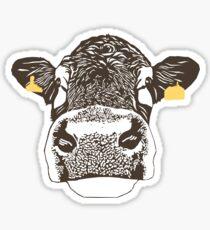 Lady Cow Sticker