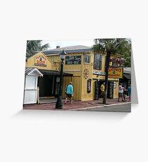 Capt. Tony's Saloon Key West Greeting Card