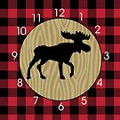 Rustic Moose with Buffalo Plaid by JessDesigns