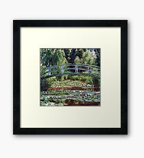 Claude Monet The Japanese Footbridge and the Water Lily Pool Framed Print