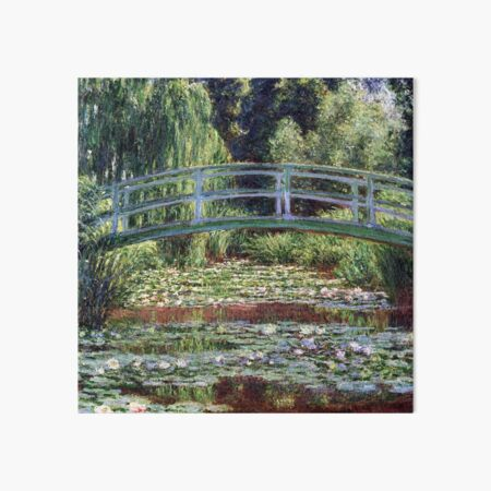 Claude Monet The Japanese Footbridge and the Water Lily Pool Art Board Print