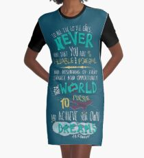 Hillary Clinton Quote - Version 2 Graphic T-Shirt Dress