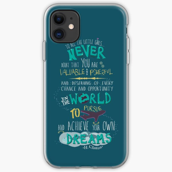 Hillary Clinton Quote - Version 2 iPhone Soft Case