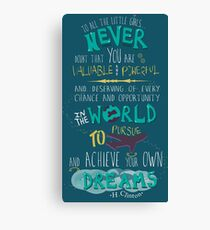 Hillary Clinton Quote - Version 2 Canvas Print