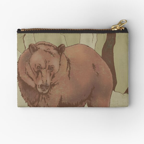 """""""With Rest Comes Clarity"""" Bear Zipper Pouch"""