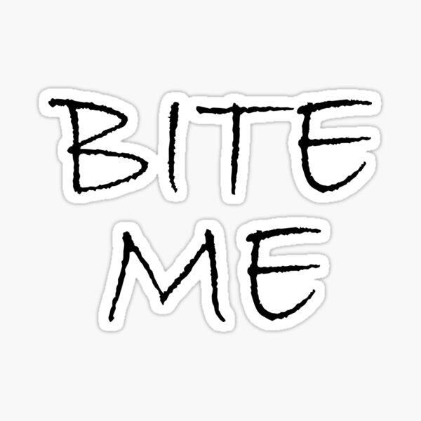 Bite Me Zombie Sticker
