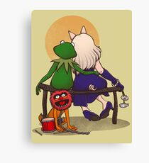 Puppet's love Canvas Print