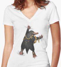 Oh, a Niffler! Women's Fitted V-Neck T-Shirt