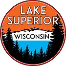 LAKE SUPERIOR WISCONSIN BOATING JET SKI BOAT CAMPING HIKING by MyHandmadeSigns