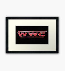 WWC RAW Framed Print