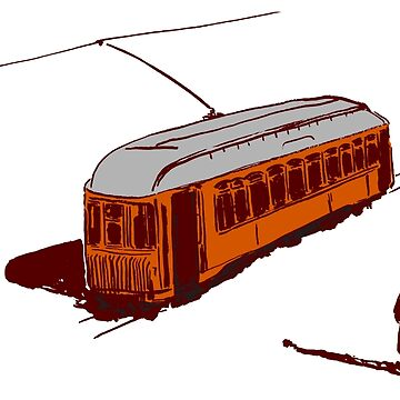 Streetcar and Figure by Danielin