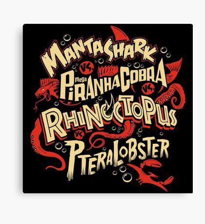SyFy Monster Movie Mash Halloween Canvas Print