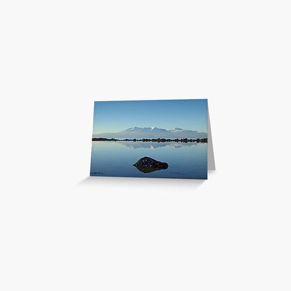 Winter Arran Reflection on Seamill Beach 2 Greeting Card