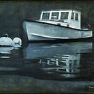 Wooden Lobster Boat, Monhegan Island, Maine by Dave  Higgins