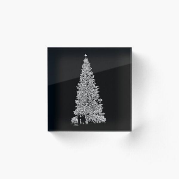 A Black And White Christmas Acrylic Block