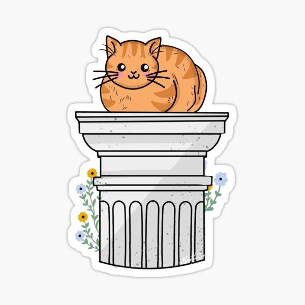 Catloaf On Doric Column Sticker