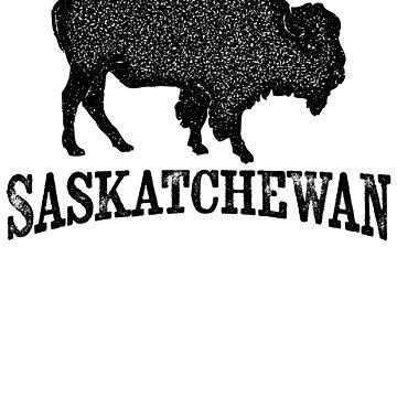 Saskatchewan T-shirt - Bison Buffalo by LocationTees